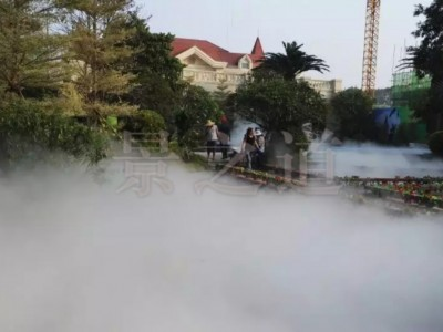 景之道在贵阳人造雾工程圆满完工