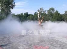 简述商业广场露天酒吧喷雾降温设备特点